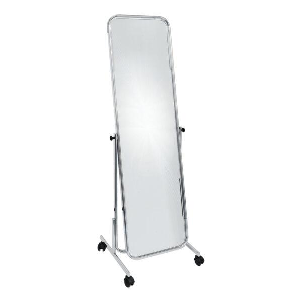 Miroir sur pied chrome