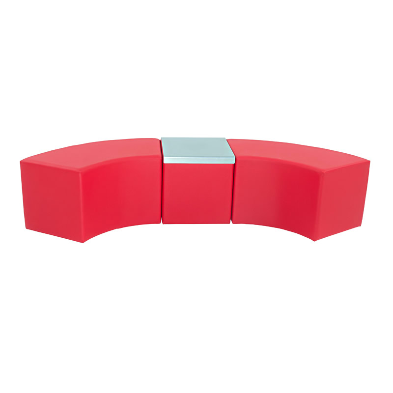 Hocker Cubi Curve rot Kombination