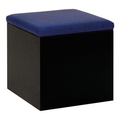 Hocker Cubus, schwarz-blau