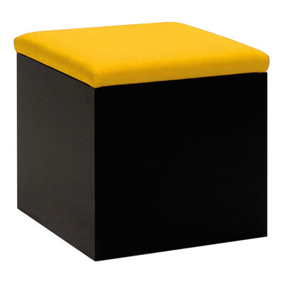 Hocker Cubus, schwarz-gelb