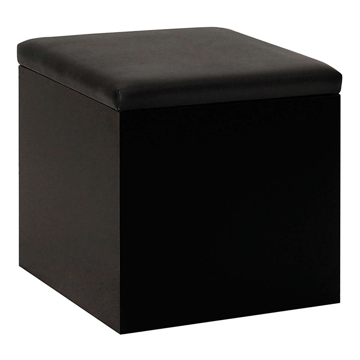 Hocker Cubus, schwarz-schwarz