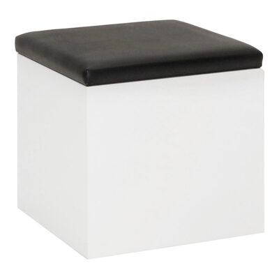 Hocker Cubus, weiß-schwarz