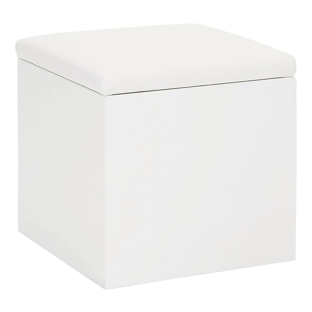 Hocker Cubus, weiß-weiß