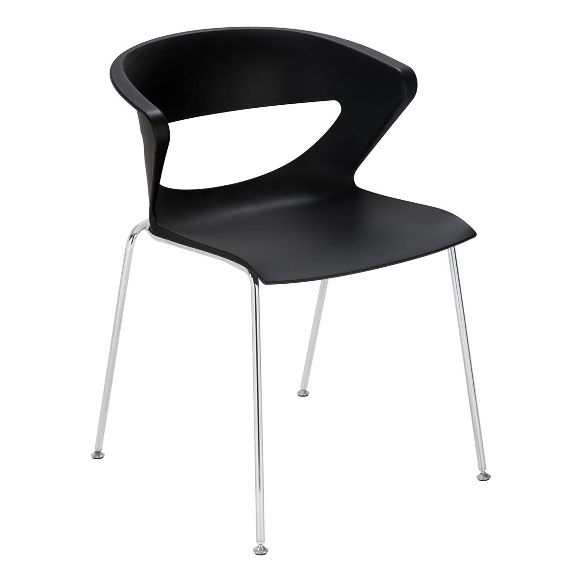 Stuhl Kicca, schwarz