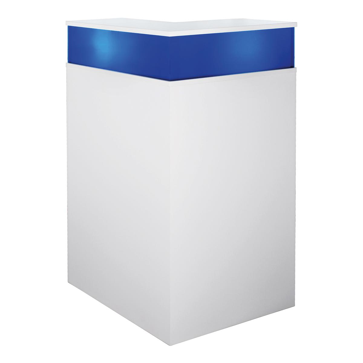 Theke Bianco Eckteil, blau