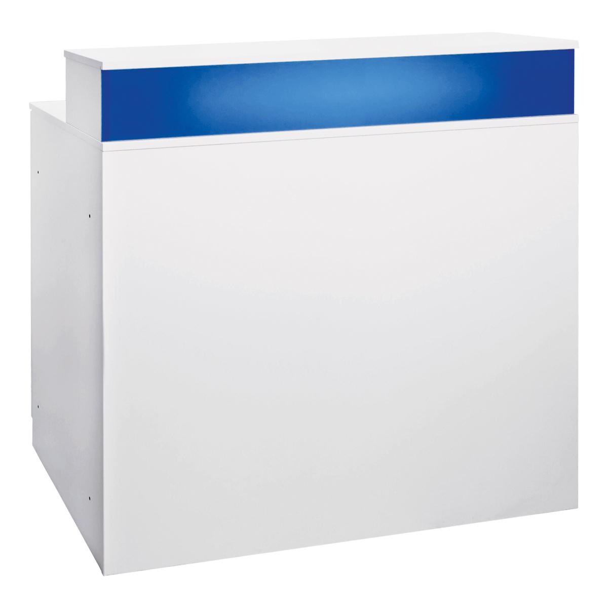 Theke Bianco, weiß-blau