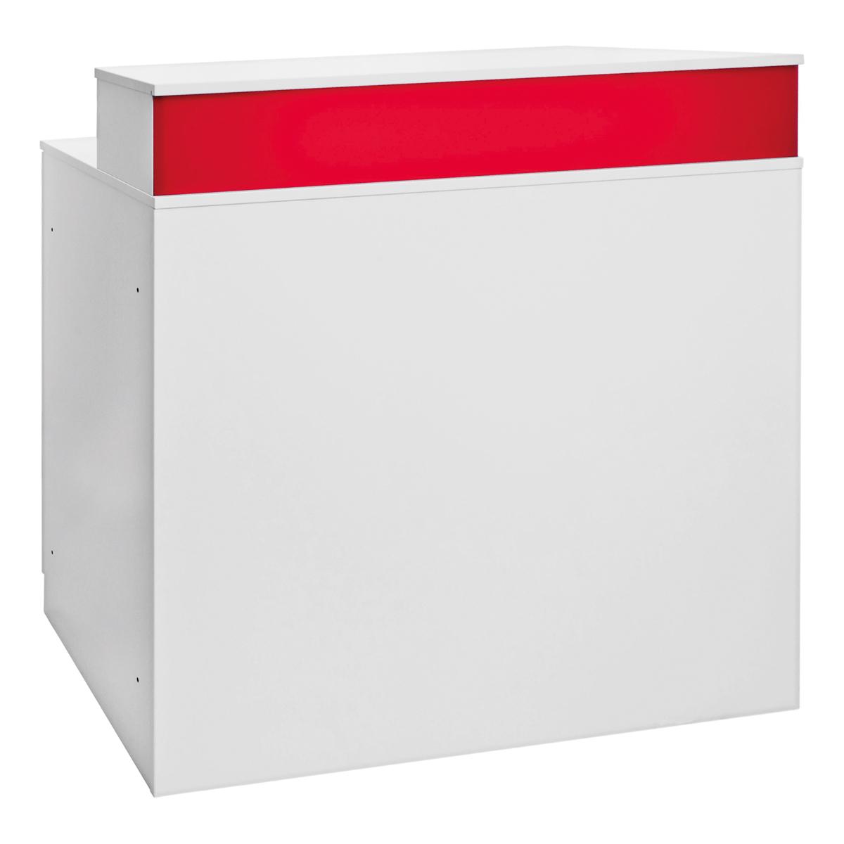 Theke Bianco, weiß-rot