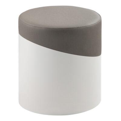 Hocker Nar, weiß-grau