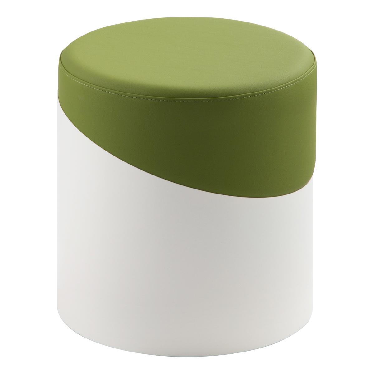 Hocker Nar, weiß-grün