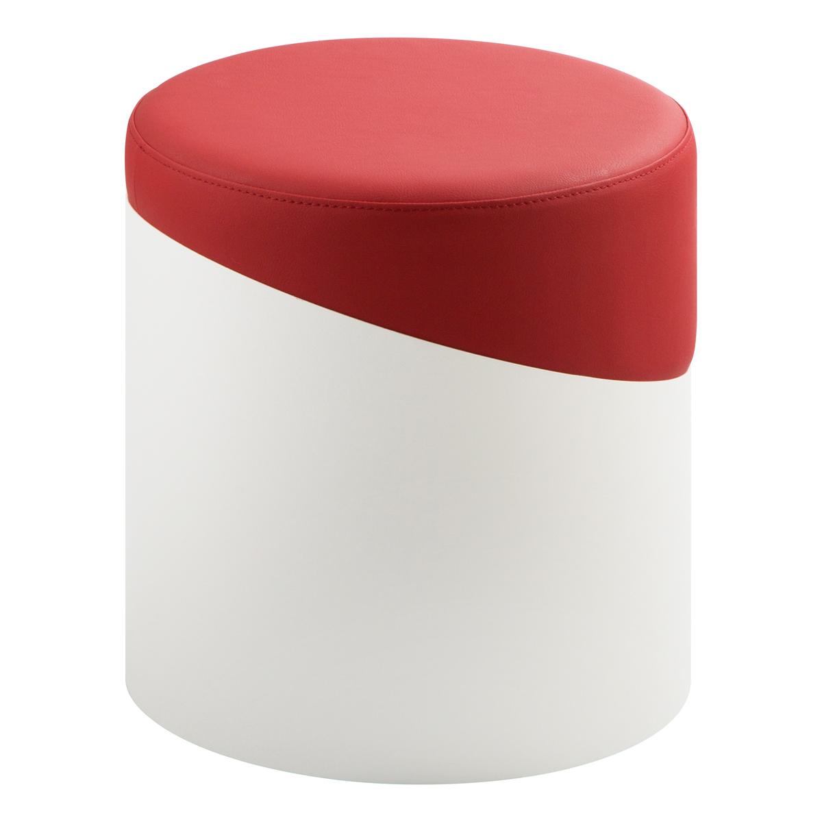 Hocker Nar, weiß-rot