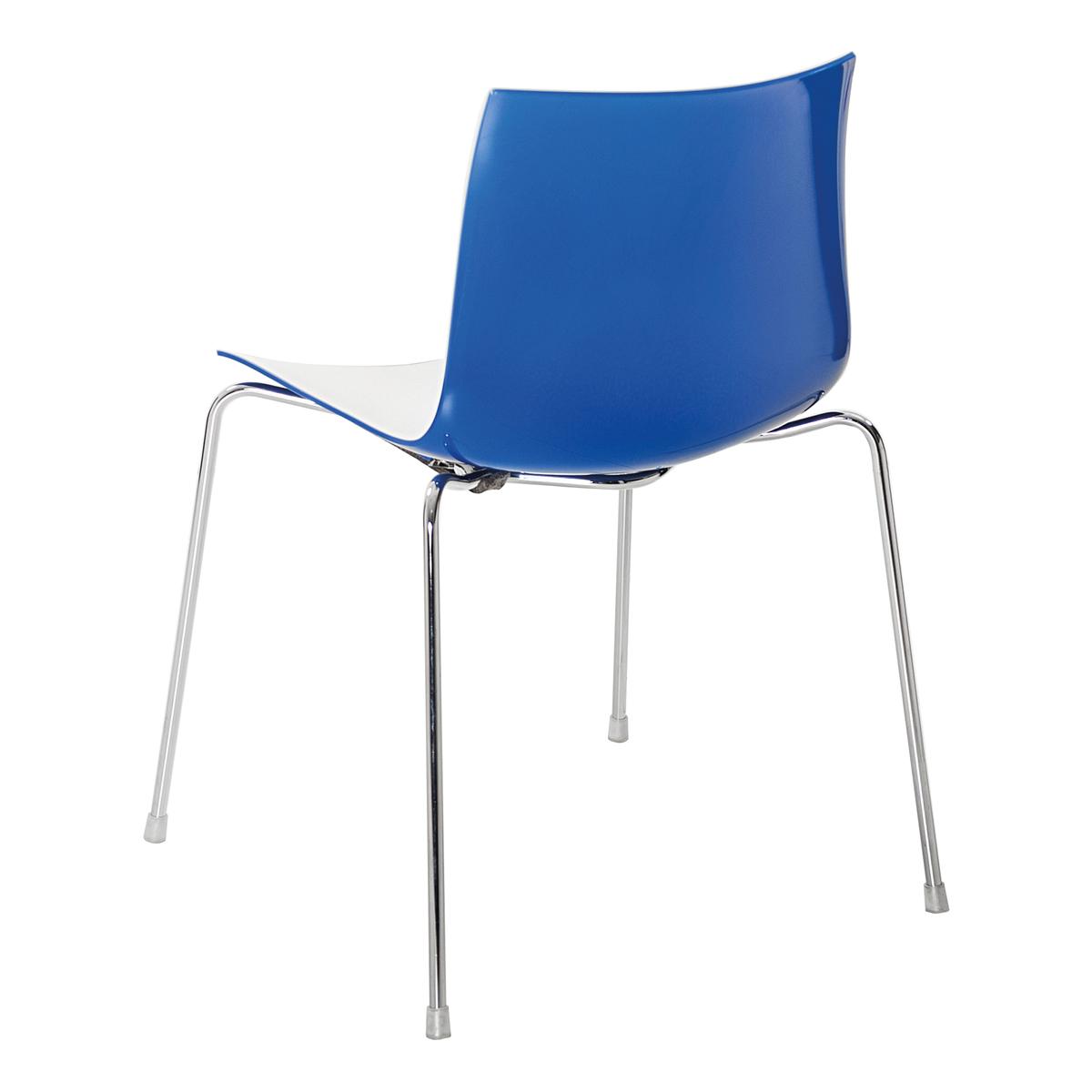 Stuhl Catifa 46, 4-Fuß, weiß-blau