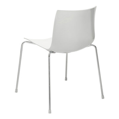 Stuhl Catifa 46, 4-Fuß, weiß-grau