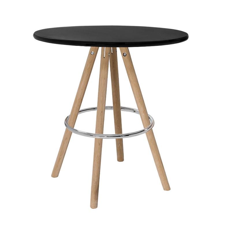 Sitztisch Orso, rund, schwarz
