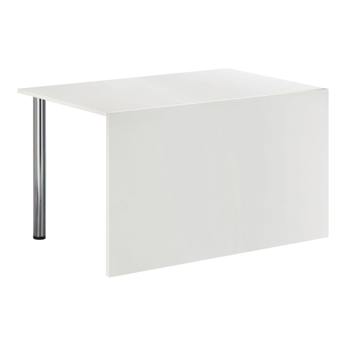 Sitztisch Genf, mit Blende, weiß