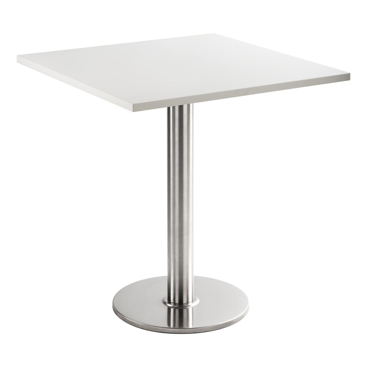 Sitztisch Chromo, eckig, weiß