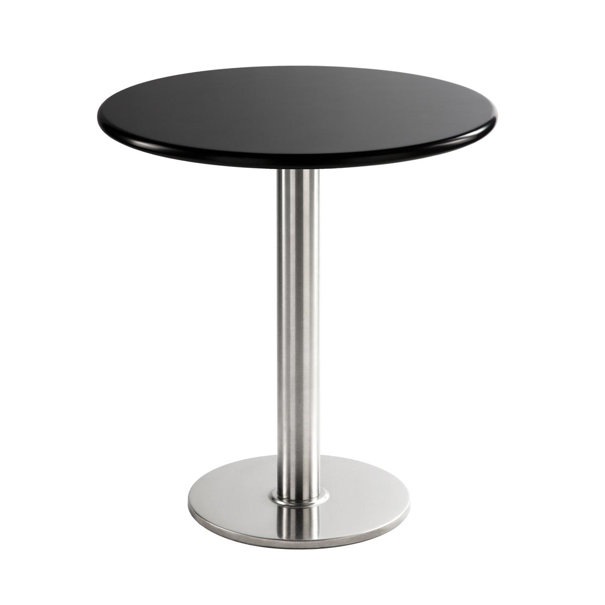 Sitztisch Chromo, rund, schwarz