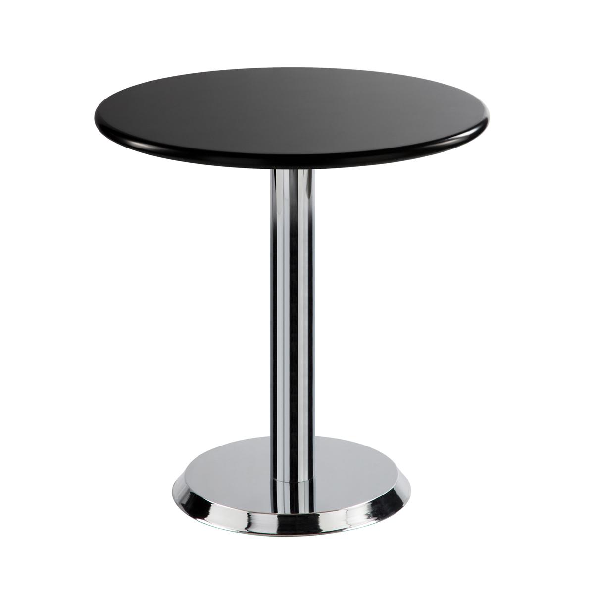 Sitztisch Kalender, rund, schwarz