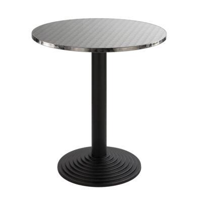 Sitztisch Nizza schwarz, rund, Inox