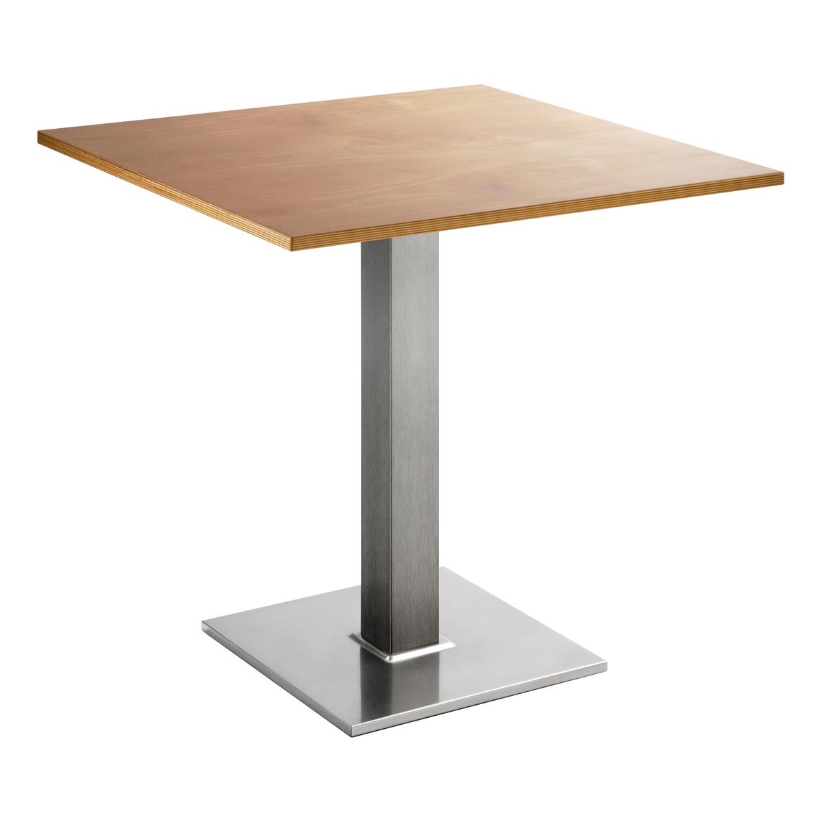 Sitztisch Quadrat, eckig, Buche