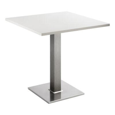 Sitztisch Quadrat, eckig, weiß