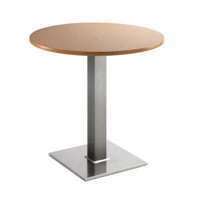 Sitztisch Quadrat, rund, Buche