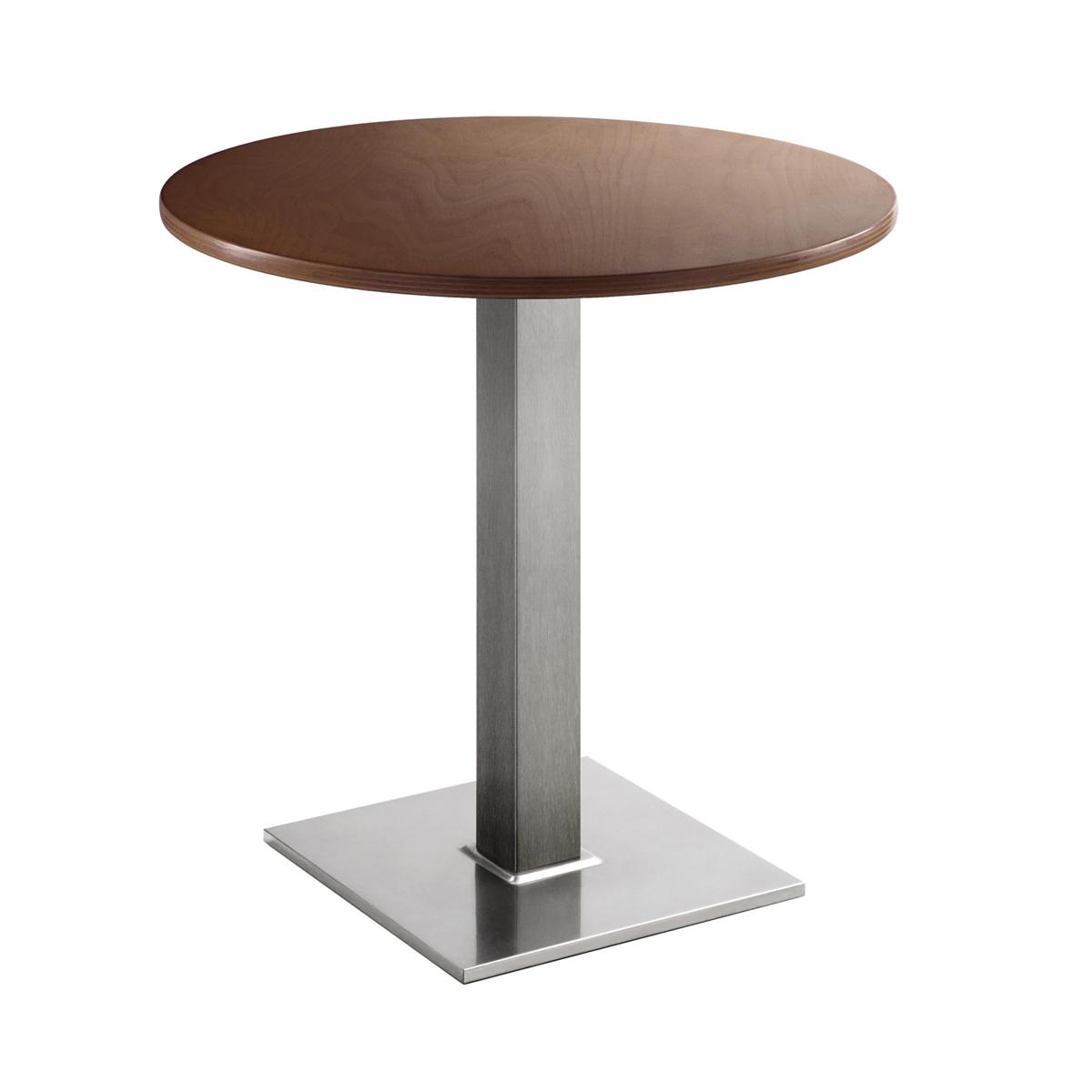 Sitztisch Quadrat, rund, Nussbaum