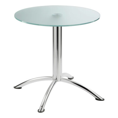 Sitztisch Sea, rund, Satinglas