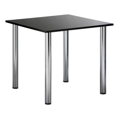 Sitztisch Genf, quadratisch, schwarz