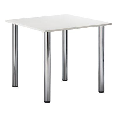 Sitztisch Genf, quadratisch, weiß