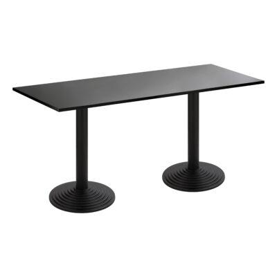 Sitztisch Nizza Doppel, schwarz-schwarz