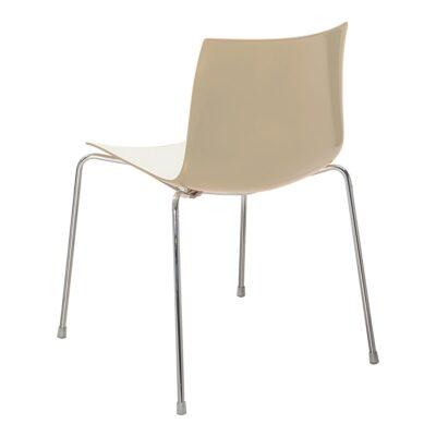 Stuhl Catifa 46, 4-Fuß, weiß-Sand