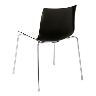 Stuhl Catifa 46, 4-Fuß, weiß-schwarz
