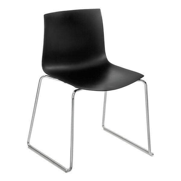 Stuhl Catifa 46, 4-Fuß, schwarz