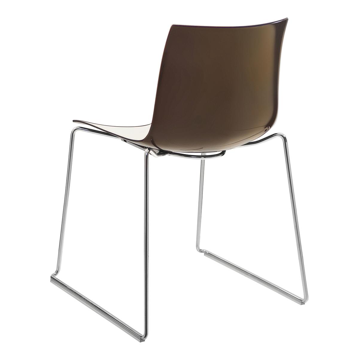 Stuhl Catifa 46, 4-Fuß, weiß-braun