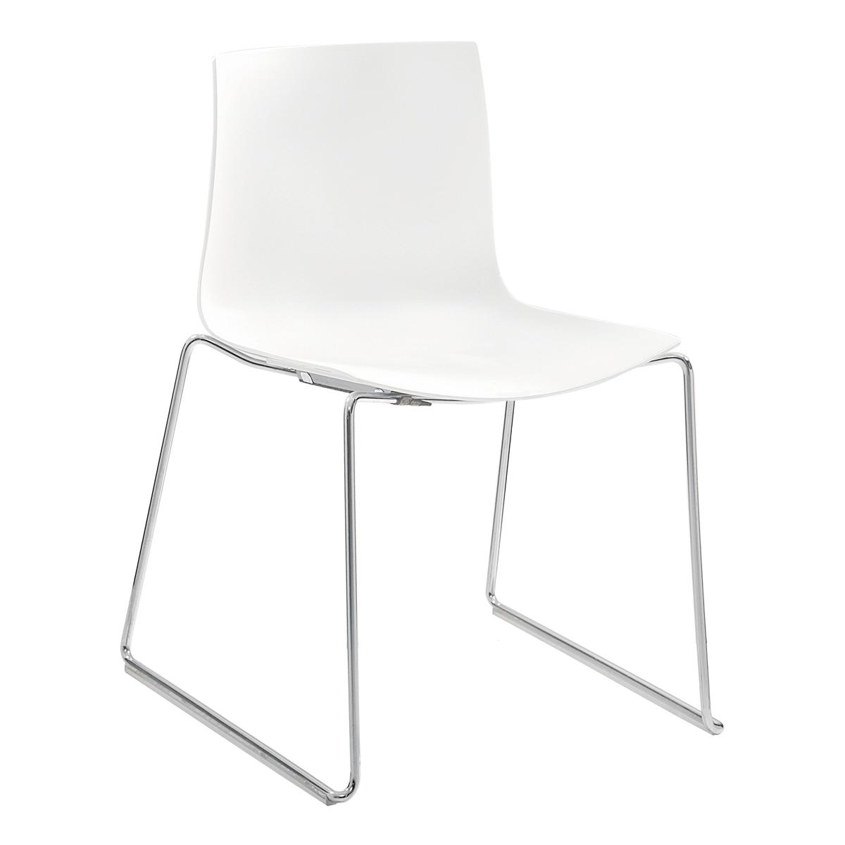 Stuhl Catifa 46, Kufe, weiß