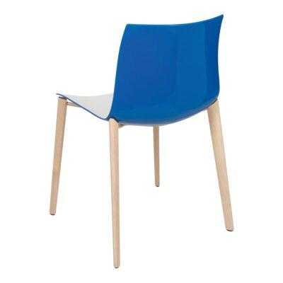 Stuhl Catifa Wood, weiß-blau