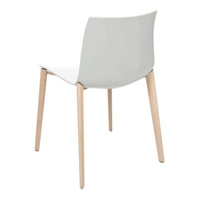 Stuhl Catifa Wood, weiß-grau