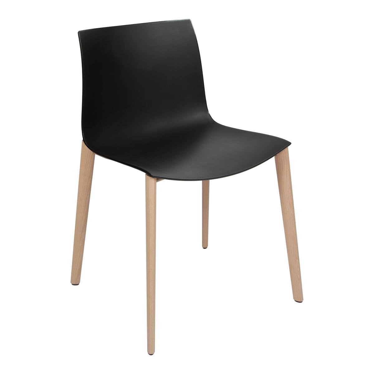 Stuhl Catifa Wood, schwarz-schwarz