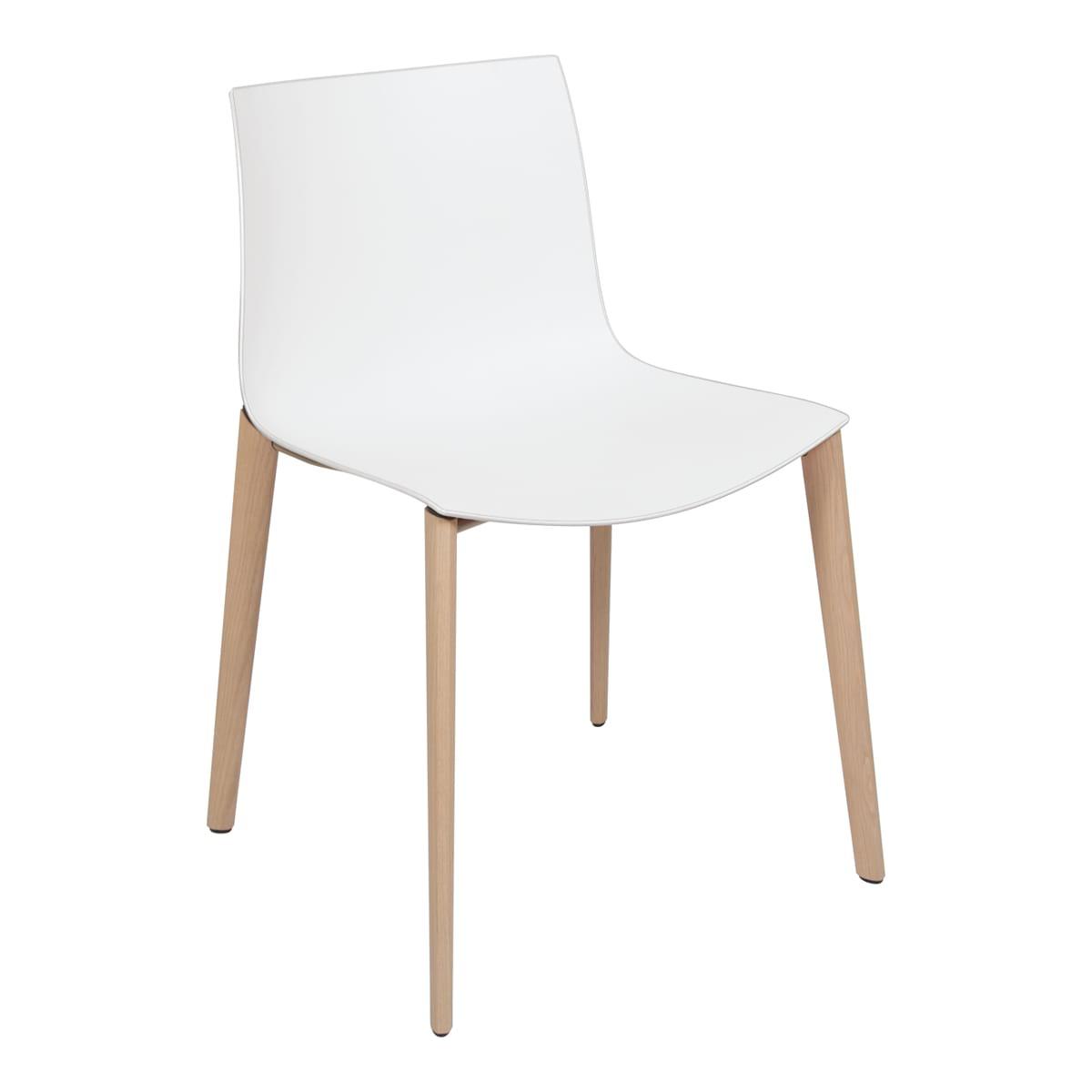 Stuhl Catifa Wood, weiß-weiß