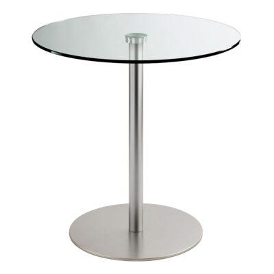 Sitztisch Brio, rund, Klarglas