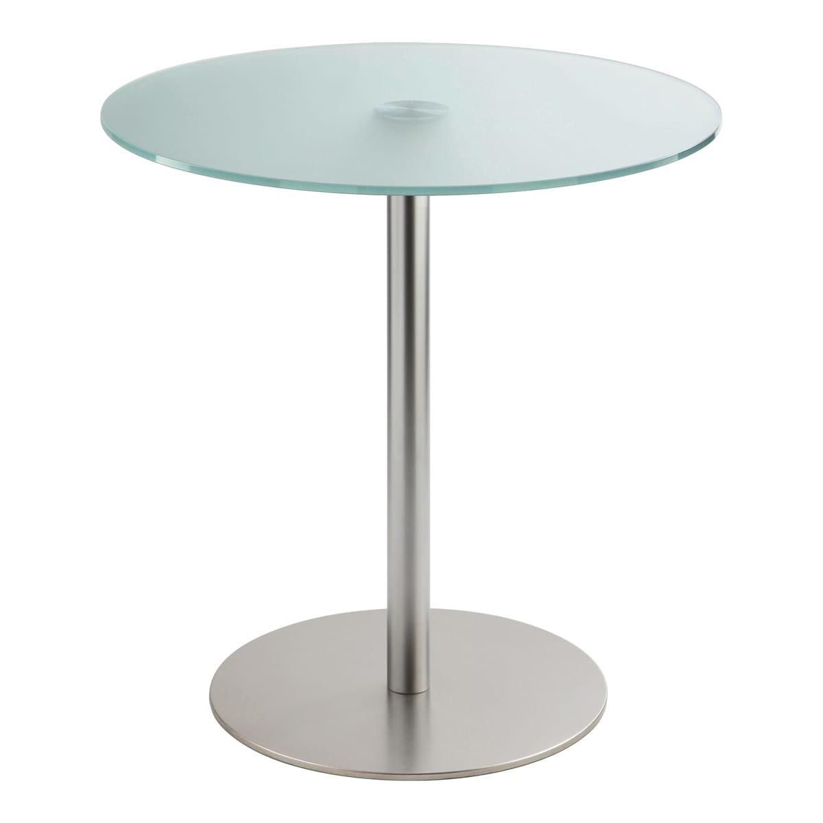 Sitztisch Brio, rund, Satinglas