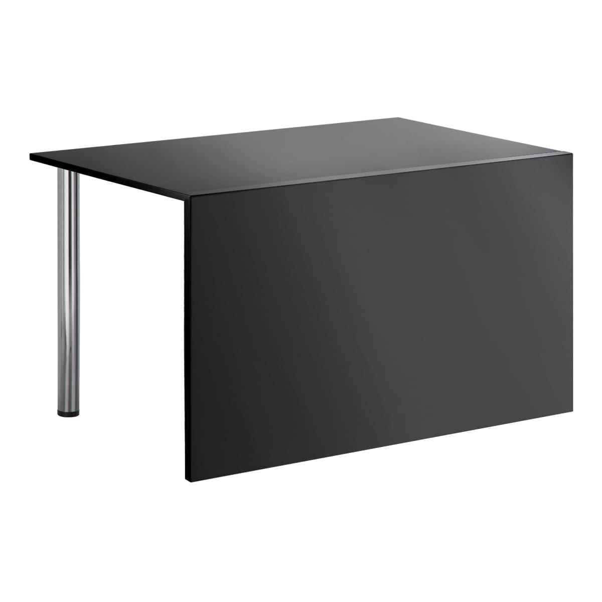 Sitztisch Genf, mit Blende, schwarz