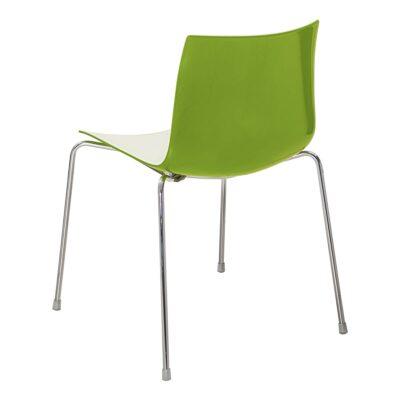 Stuhl Catifa 46, 4-Fuß, weiß-grün