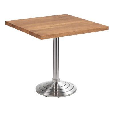 Table de siège Athen, anguleux, chêne foncé