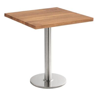 Sitztisch Chromo, eckig, Eiche dunkel