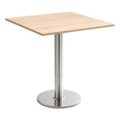 Sitztisch Chromo, eckig, Eiche hell