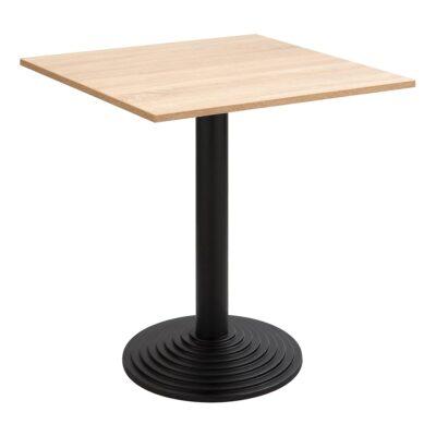 Sitztisch Nizza schwarz, eckig, Eiche hell