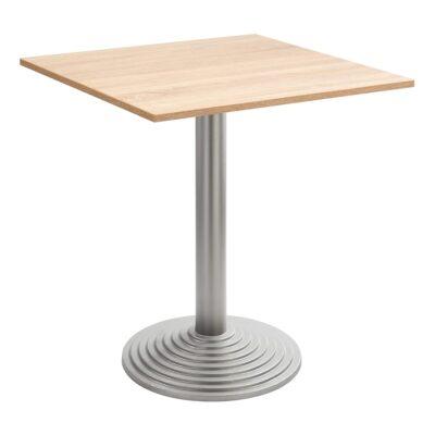 Sitztisch Nizza silber, eckig, Eiche hell