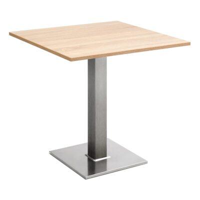 Sitztisch Quadrat, eckig, Eiche hell
