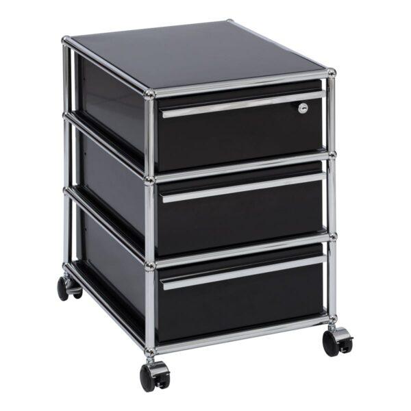 USM Rollcontainer, schwarz